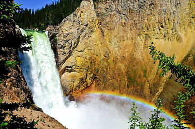 Photograph - Lower Falls Rainbow by Greg Norrell