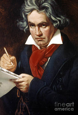 Beethoven Photograph - Ludwig Van Beethoven by Granger