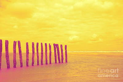 Luminous Beach Yellow Art Print