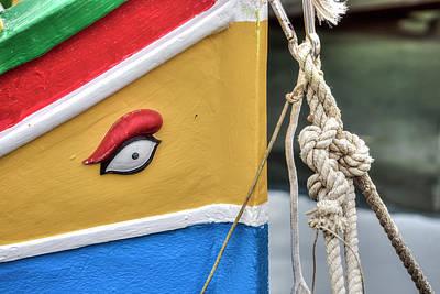 Horus Photograph - Luzzu - Malta by Joana Kruse