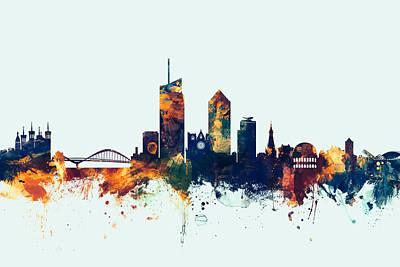 Lyon France Skyline Art Print
