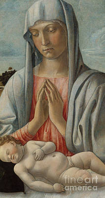 Praise The Lord Painting - Madonna Adoring The Sleeping Child by Giovanni Bellini
