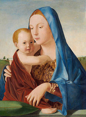 Madonna Painting - Madonna And Child by Antonello da Messina