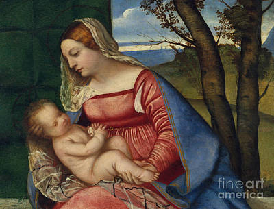 Jesus Art Painting - Madonna And Child by Titian