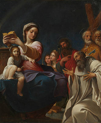 Painting - Madonna And Child With Saints by Ludovico Carracci