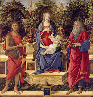 Child Jesus Painting - Madonna With Saints by Sandro Botticelli