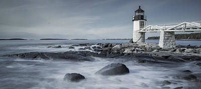 Coastal Maine Photograph - Maine Lighthouse by Chad Tracy