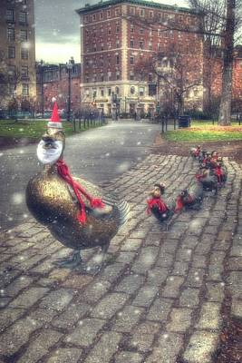 Photograph - Make Way For Ducklings - Boston Public Garden by Joann Vitali