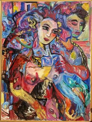 Painting - 3 Makes 1 Babylon  by Mykul Anjelo