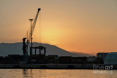 Photograph - Malaga Harbour Sunset by Rod Jones
