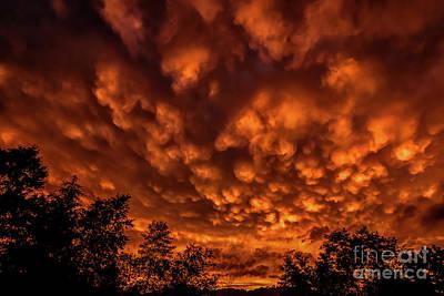 Mammatus Photograph - Mammatus Clouds At Sunset by Thomas R Fletcher