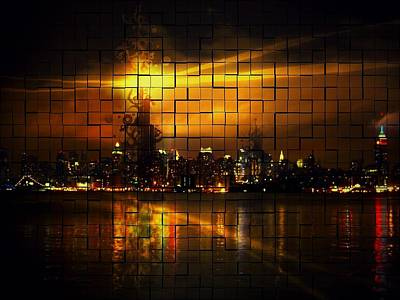 Skyline Digital Art - Man Made by Maye Loeser