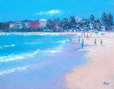 Australian Vacation Painting - Manly Beach by Jan Matson