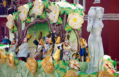 Photograph - Mardi Gras Float And Krewe by Carol M Highsmith