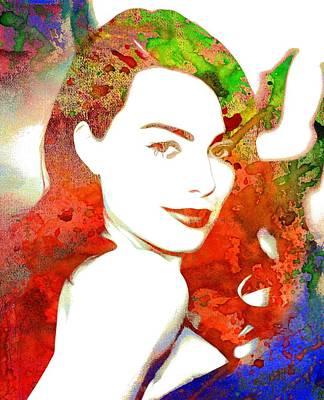 Actrice Digital Art - Margot Robbie Print by Best Actors
