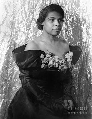 Marian Photograph - Marian Anderson (1897-1993) by Granger