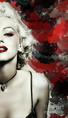 Actors Digital Art - Marilyn Monroe           by Prar Kulasekara