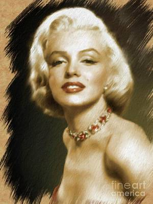Painting - Marilyn Monroe, Actress And Model by Mary Bassett