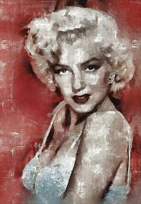 Celebrities Rights Managed Images - Marilyn Monroe Royalty-Free Image by Esoterica Art Agency