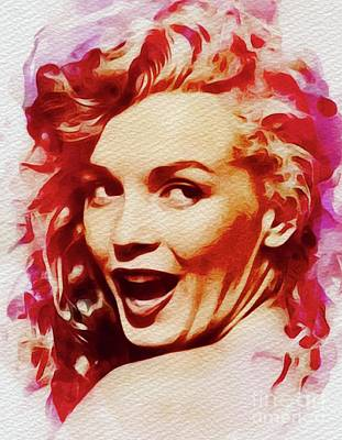 Actors Royalty-Free and Rights-Managed Images - Marilyn Monroe, Pinup and Actress by John Springfield