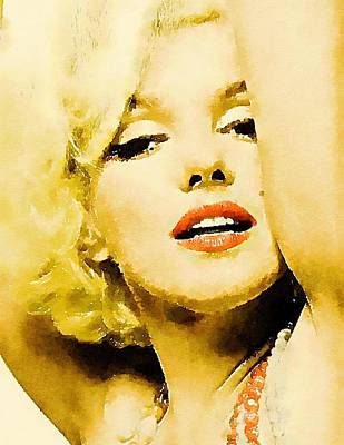 Burlesque Painting - Marilyn Pinup By Frank Falcon by Frank Falcon