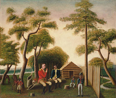 Painting - Marion Feasting The British Officer On Sweet Potatoes by George Washington Mark