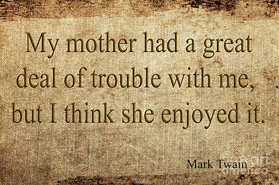 Mixed Media - Mark Twain by Ed Taylor