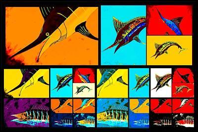 Wall Art - Digital Art - Marlin And Wahoo  by Barry Knauff