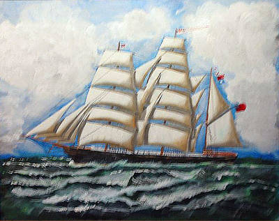 Painting - 3 Master Tall Ship by Richard Le Page