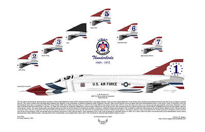 Mcdonnell Douglas F-4e Phantom II Thunderbirds Art Print