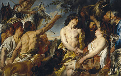 Painting - Meleager And Atalanta by Jacob Jordaens