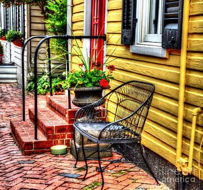 Window Bench Photograph - Mellow Yellow by Debbi Granruth