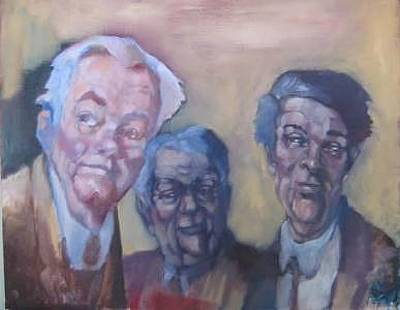 Painting - 3 Men by Kevin McKrell