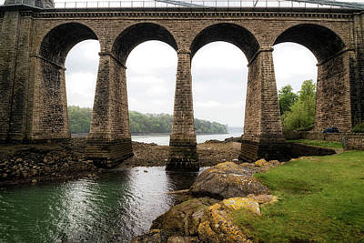 Photograph - Menai Straits Suspension Bridge by Shirley Mitchell