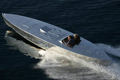 Photograph - Mercury Race Boat by Steven Lapkin