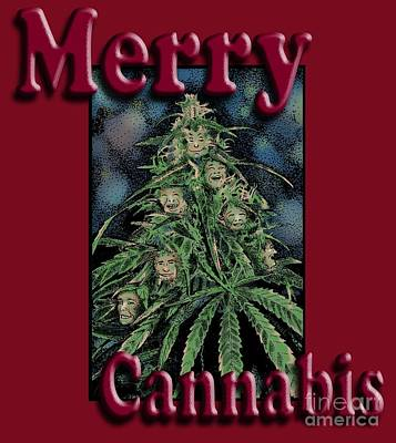 Drawing - Merry Cannabis by Joseph Juvenal