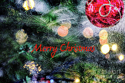 Photograph - Merry Christmas Background by Patricia Hofmeester