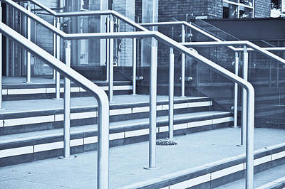 Shining Down Photograph - Metal Railings by Tom Gowanlock
