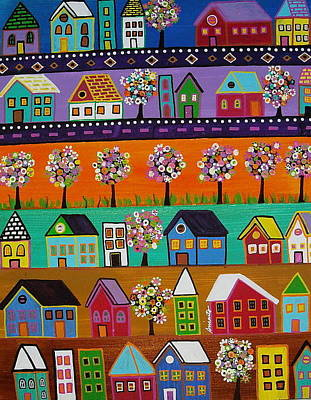 Painting - Mexican Town by Pristine Cartera Turkus