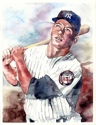 Mickey Mantle Portrait Art Print