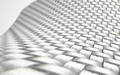 Materials Digital Art - Micro Fabric Weave Clean by Allan Swart