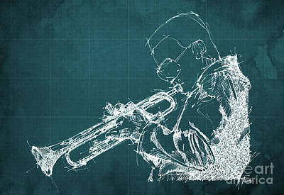 Cave Art Drawing - Miles Davis by Pablo Franchi