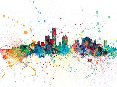 Cityscape Digital Art - Milwaukee Wisconsin Skyline by Michael Tompsett