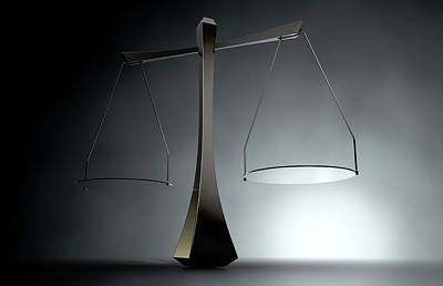 Equal Rights Digital Art - Modern Scales Of Justice by Allan Swart