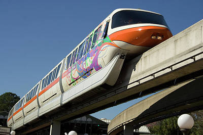 Photograph - Monorail At Disney World by Carl Purcell