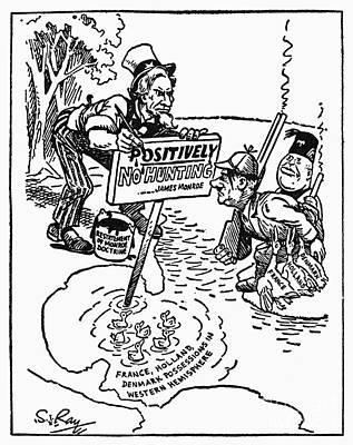 Hitler Photograph - Monroe Doctrine Cartoon by Granger