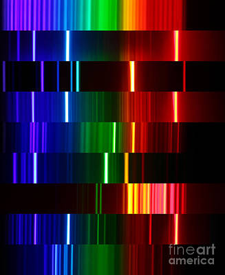 Photograph - Montage Of Various Spectra by Ted Kinsman