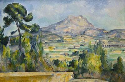 Sierra Painting - Montagne Saint-victoire by Paul Cezanne