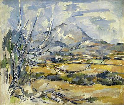 Montagne Sainte Victoire Art Print by Paul Cezanne
