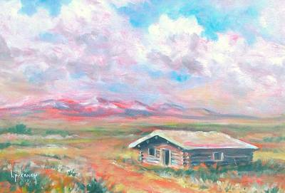 Painting - Montana Homestead by Kevin Heaney